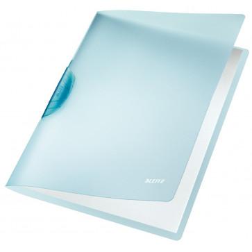 Dosar din plastic, cu clip, albastru deschis, LEITZ Color Clip Rainbow