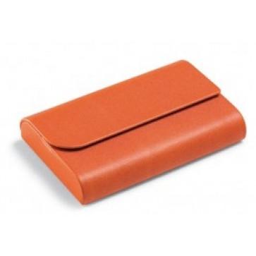 Clasor pentru carti de vizita, portocaliu, in imitatie de piele, FEDON P-Bigl-Cal