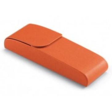 Etui pentru 2 instrumete de scris, portocaliu, din imitatie de piele, FEDON P-Penne-Cal-2