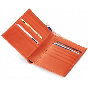 Portofel, portocaliu, din piele de bovina, FEDON Classica P-Cards-14