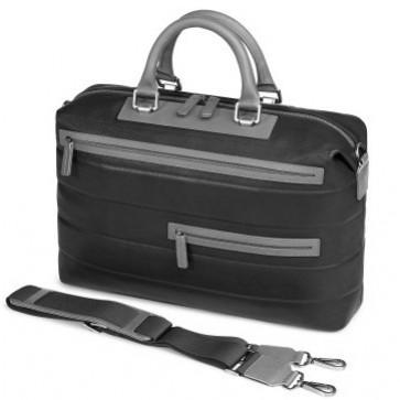Geanta pentru laptop, negru/gri, din piele de bovina, FEDON Award File-2