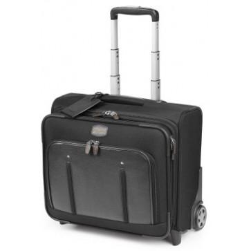 Troller, negru/gri, din piele de bovina si nylon, FEDON Travel Web BS-Trolley