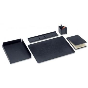 Set birou din imitatie de piele, negru, FEDON Scrittoio 5-S