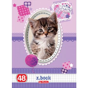 Caiet A5, 48 file, matematica, HERLITZ x.book - Pretty Pets