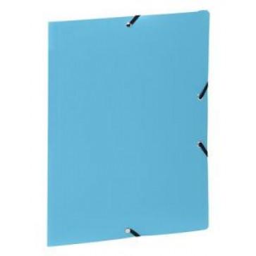 Mapa din plastic, A4, bleu, cu elastic, VIQUEL Rabats