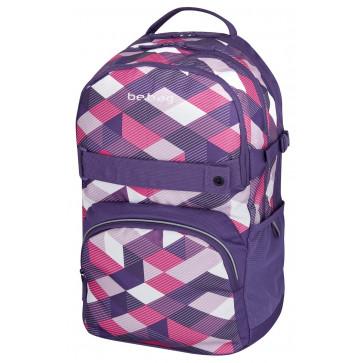 Rucsac ergonomic, HERLITZ Be.Bag Cube Purple Checked