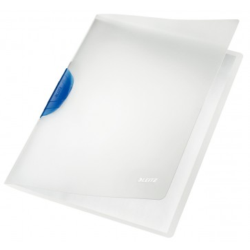 Dosar din plastic, cu clip, albastru, LEITZ Color Clip