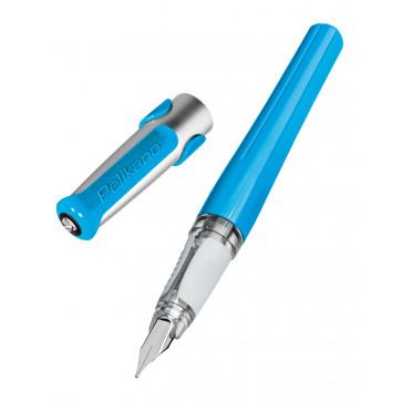 Stilou cu grip, pentru dreptaci, penita F, albastru, PELIKAN Pelikano