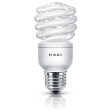 Bec economic, 15W (68 W), Soclu E27, Alb cald, PHILIPS Twister