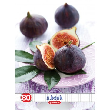 Caiet A4, matematica, 80 file, HERLITZ x.book Fresh Fruits