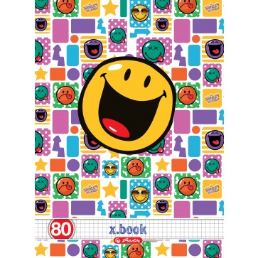 Caiet A4, matematica, 80 file, HERLITZ x.book Smiley World