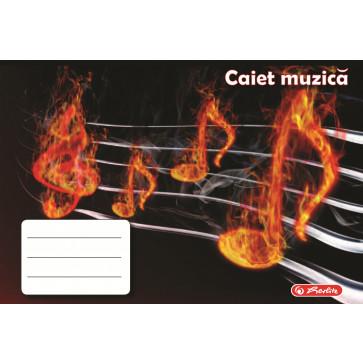 Caiet pentru muzica, 17 x 24cm, 24 file, HERLITZ ROCK YOUR SCHOOL