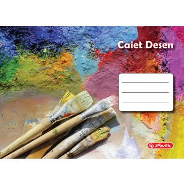 Caiet pentru desen, 17 x 24cm, 24 file, HERLITZ ROCK YOUR SCHOOL