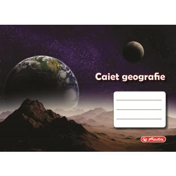 Caiet pentru geografie, 17 x 24cm, 24 file, HERLITZ ROCK YOUR SCHOOL