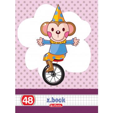 Caiet A5 matematica, 48 file, HERLITZ x.book circus