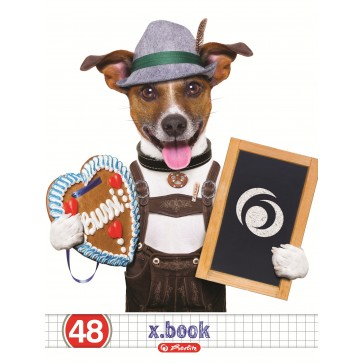 Caiet A5, 48 file, matematica, HERLITZ x.book Cool DOG