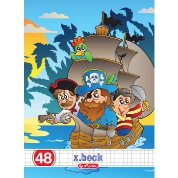 Caiet A5 matematica, 48 file, HERLITZ x.book Pirates