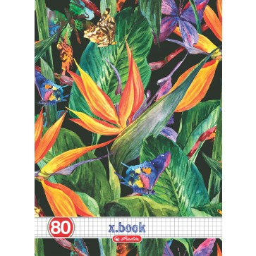 Caiet A4, matematica, 80 file, HERLITZ Tropical