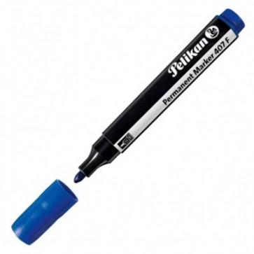 Marker permanent, 2.5mm - varf rotund, albastru, PELIKAN 407