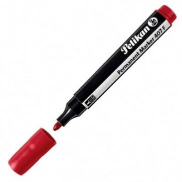 Marker permanent, 2.5mm - varf rotund, rosu, PELIKAN 407