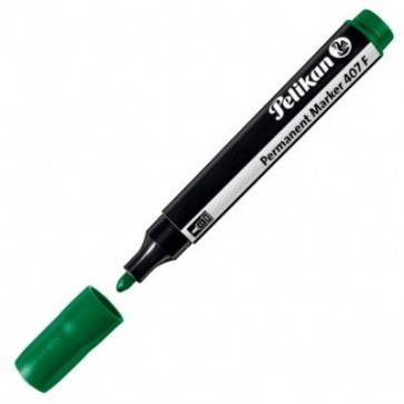 Marker permanent, 2.5mm - varf rotund, verde, PELIKAN 407