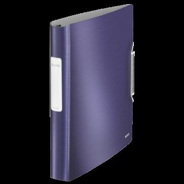 Caiet mecanic, A4, 4 inele DR, inel 30mm, polyfoam, albastru-violet, LEITZ Active WOW SoftClick