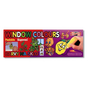 Culori pentru pictat pe sticla, 9 + 1 culori/set, KOH-I-NOOR