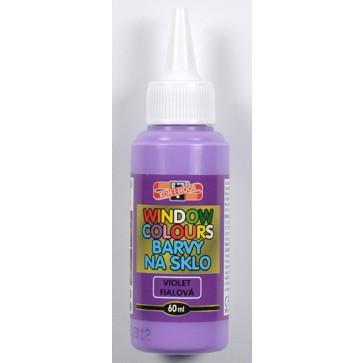 Culoare pentru pictat pe sticla, violet, 60ml/tub, KOH-I-NOOR