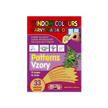 Carte pentru colorat pe sticla, desene/sabloane, 33 desene Craciun, KOH-I-NOOR