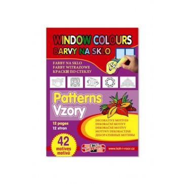 Carte pentru colorat pe sticla, desene/sabloane, 42 desene, KOH-I-NOOR