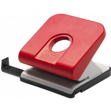 Perforator de birou, pentru maxim 25 coli, rosu, NOVUS Master