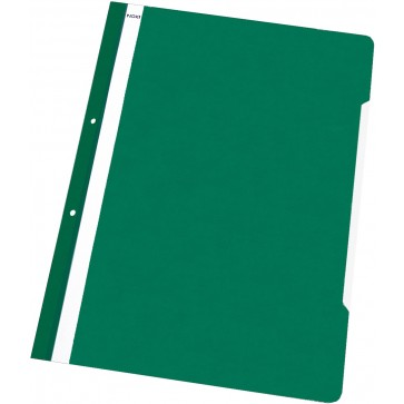 Dosar din plastic, cu sina si perforatii, verde deschis, NOKI