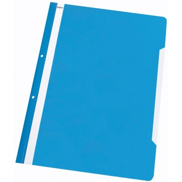 Dosar din plastic, cu sina si perforatii, albastru deschis, NOKI