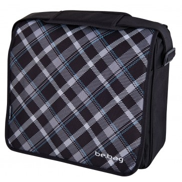 Geanta de umar, tip messenger, HERLITZ Be.Bag Black Checked