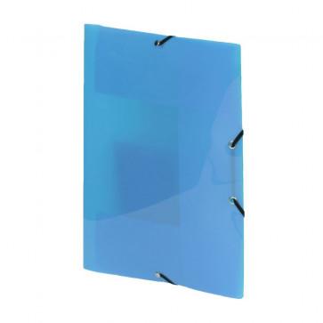 Mapa din plastic, albastru, cu elastic, VIQUEL