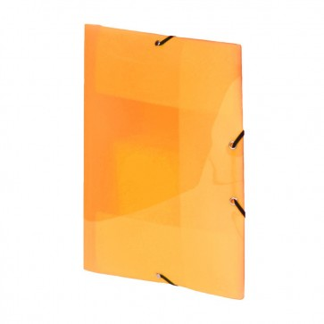 Mapa din plastic, portocaliu, cu elastic, VIQUEL