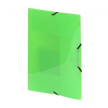 Mapa din plastic, verde, cu elastic, VIQUEL