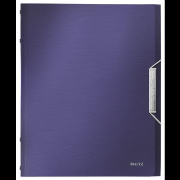 Mapa din plastic, A4, 6 separatoare, albastru-violet, LEITZ Style