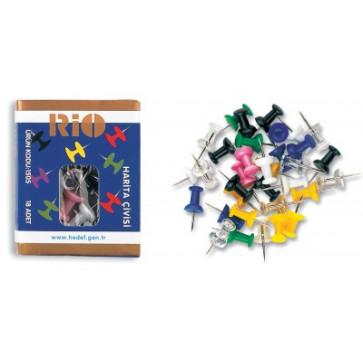 Ace pt. panou din pluta, diferite culori, 18 buc/cutie, RIO