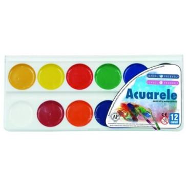 Acuarele, 12 culori/set, PIGNA