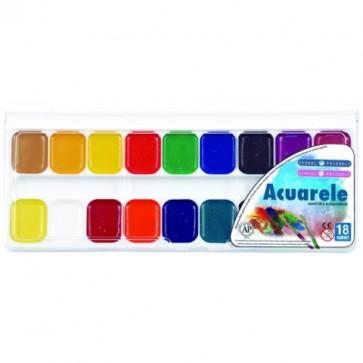 Acuarele, 18 culori/set, PIGNA ColourKids