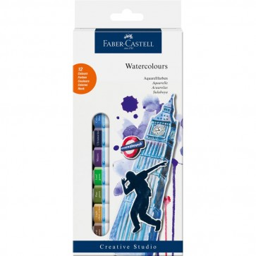 Tempera 12 culori/set, 12ml, FABER CASTELL