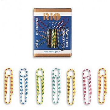 Agrafe pt. birou colorate, 28mm, 40 buc/cutie, RIO Zebra