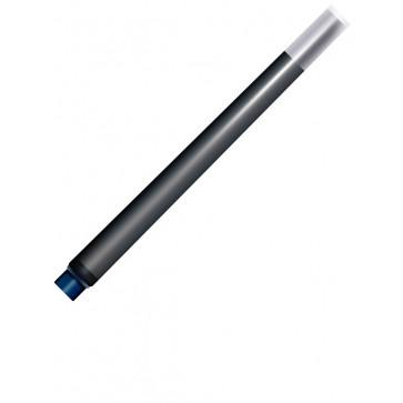 Cartuse cu cerneala (mari), albastru inchis - permanent, 5 bucati/cutie, PARKER Quink Standard