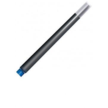 Cartuse cu cerneala (mari), albastru - permanent, 5 bucati/cutie, PARKER Quink Standard