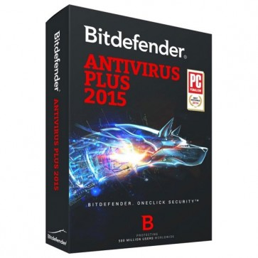 Antivirus Plus 2015, 1 an, 3 utilizatori, Box, BITDEFENDER