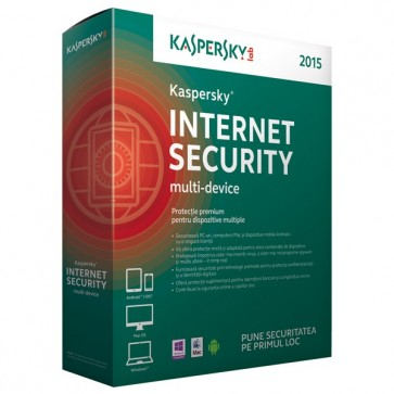 KASPERSKY Internet Security Multi-Device 2015, 1 an, 3 dispozitive, Box