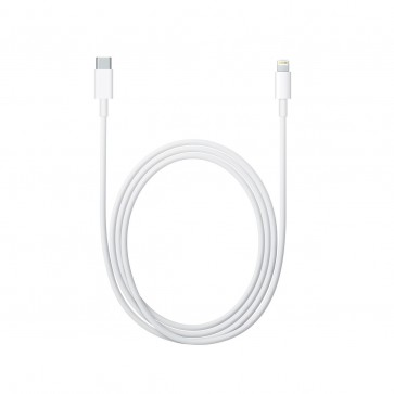 Cablu de date APPLE USB-C to Lightning Cable, 2m, white