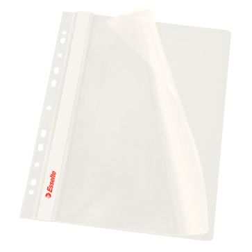 Dosar din plastic, cu sina si multiple perforatii, alb, ESSELTE Vivida