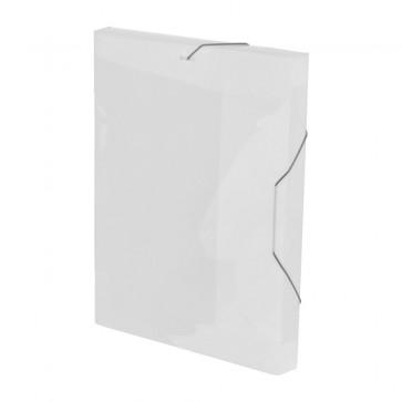 Mapa din plastic, A4, alb, cu elastic, VIQUEL Coolbox